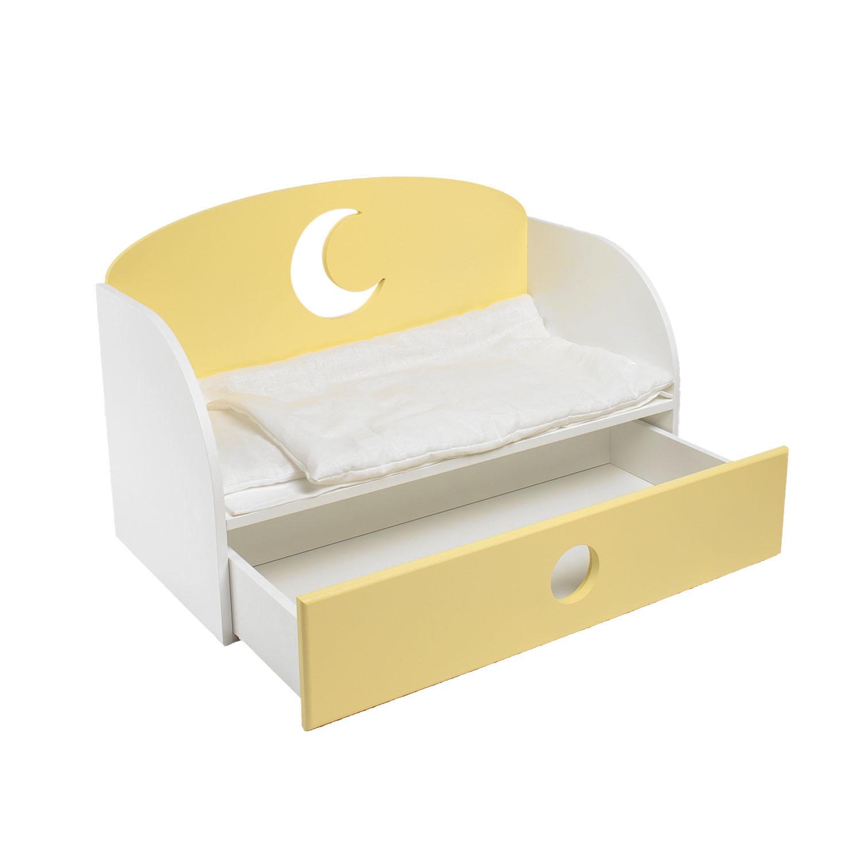Купить Диван-кровать для кукол PAREMO Луна, цвет желтый, Мебель для кукол