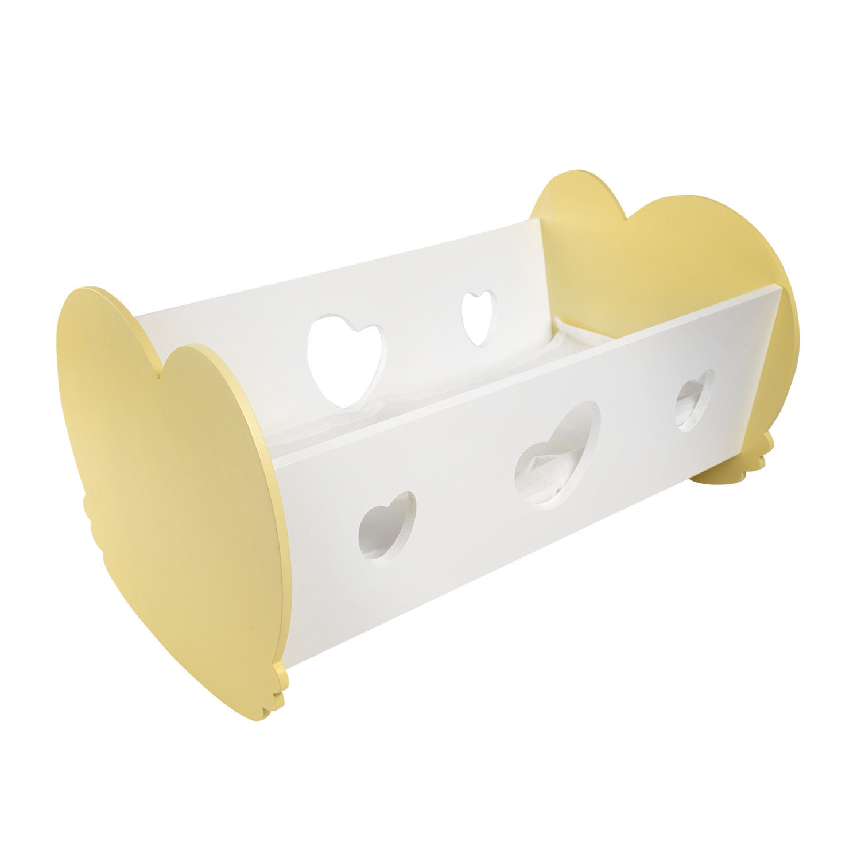 Кроватка-люлька для кукол PAREMO цвет нежно-желтый
