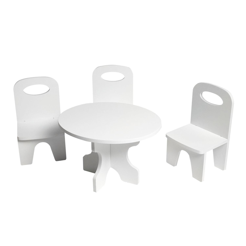 Набор мебели для кукол PAREMO PFD120-37 Классика стол + стулья, белый