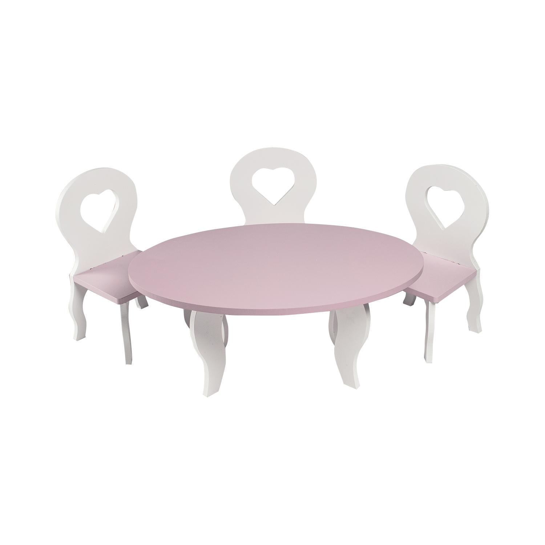 Набор мебели для кукол PAREMO PFD120-48 Шик стол + стулья, розовый