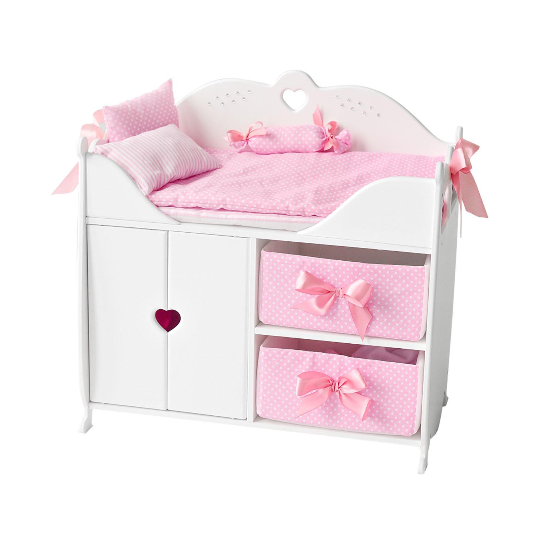 Купить Кроватка-шкаф для кукол PAREMO PFD120-53 с постельным бельем, белый,