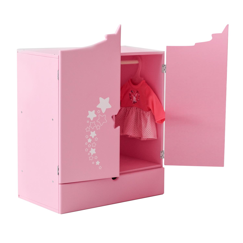 Купить Шкаф для кукол PAREMO PFD120-63 Звездочка, розовый,