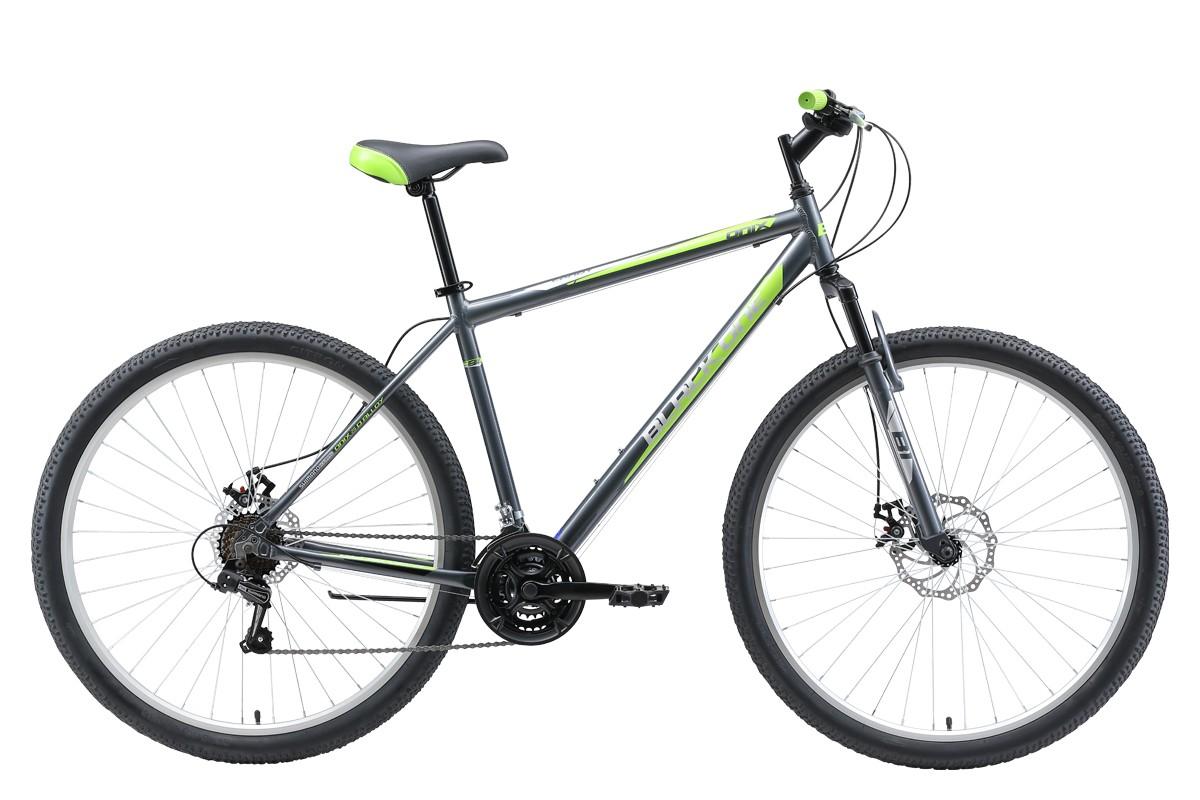 BLACK ONE Велосипед Black One Onix 29 D Alloy (2019) серый/зелёный/чёрный 22