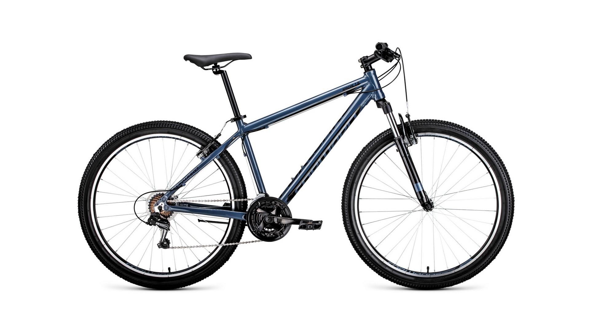 FORWARD Велосипед Forward Apache 27.5 1.0 (2020) серый/черный 17