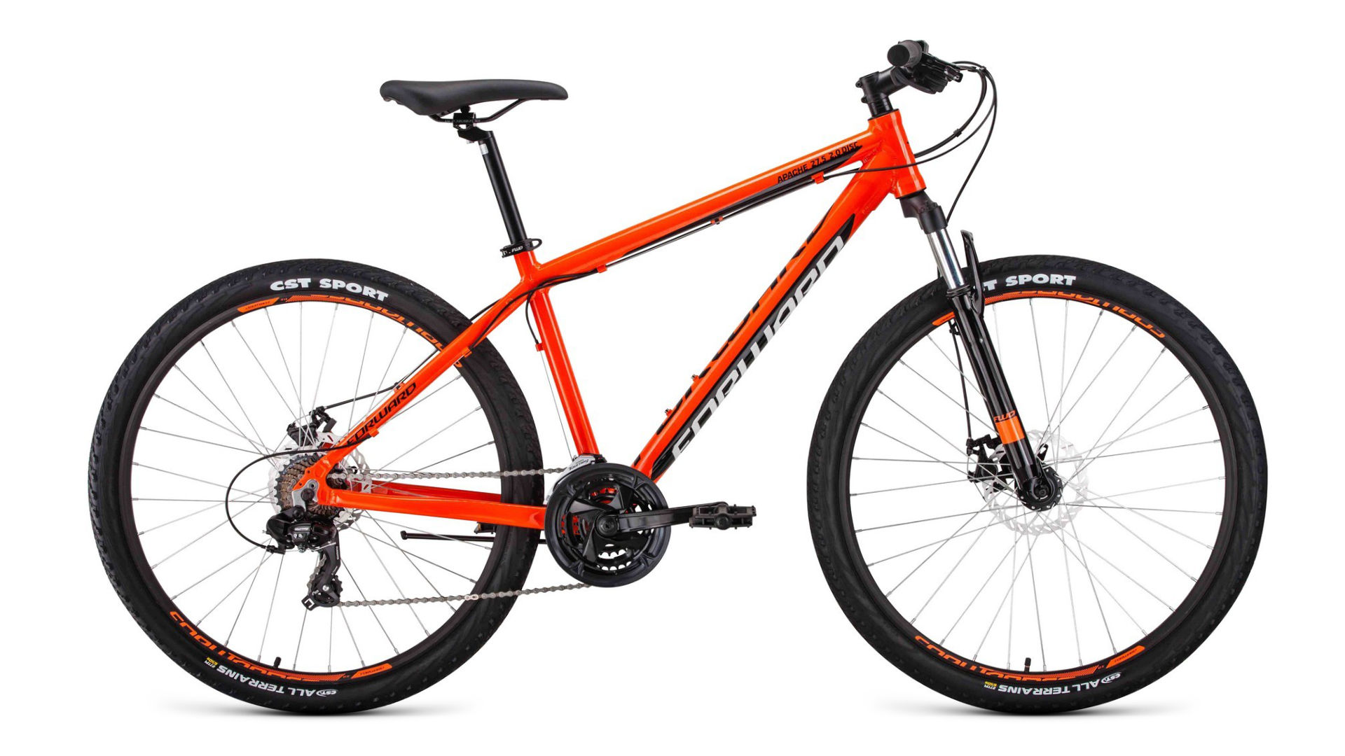 FORWARD Велосипед Forward Apache 27.5 2.0 disc (2020) оранжевый/черный 19
