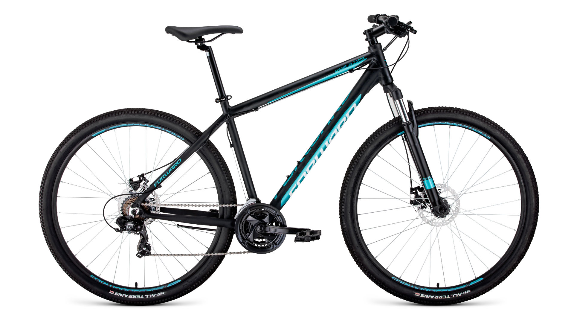 FORWARD Велосипед FORWARD APACHE 29 2.0 disc (2020) черный 19