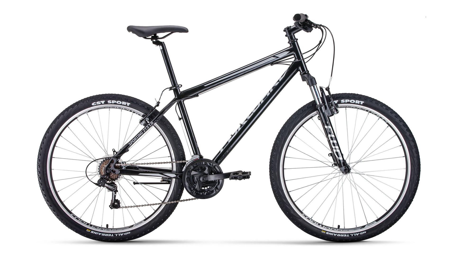 FORWARD Велосипед Forward Sporting 27.5 1.0 (2020) черный/серый 19
