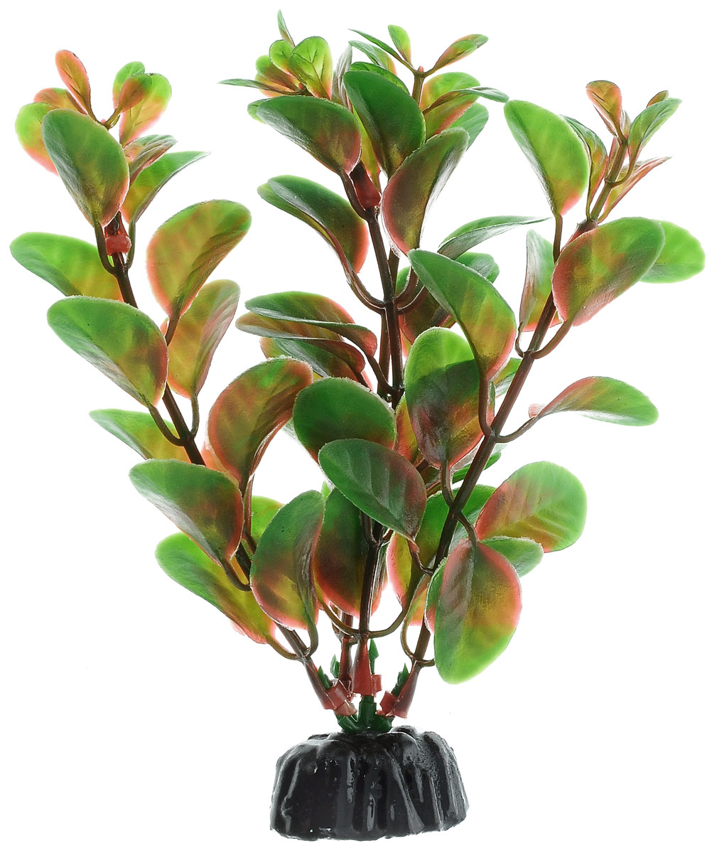 Растение для аквариума Barbus, пластик, Людвигия красная,
