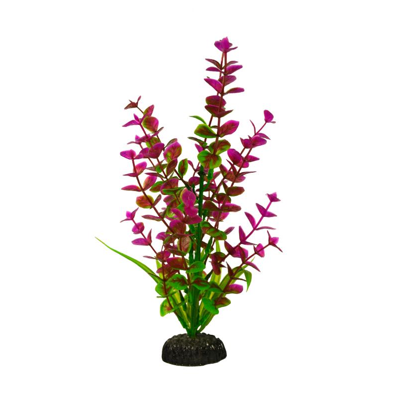Растение для аквариума Barbus, пластик, Бакопа красная,