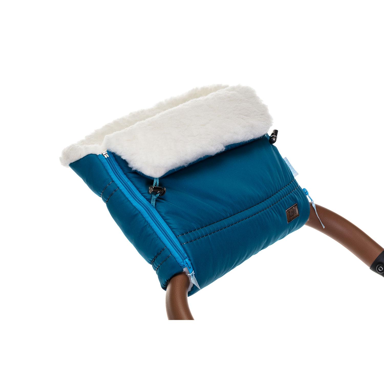 Купить Муфта меховая для коляски Nuovita Alpino Bianco бирюзовый,