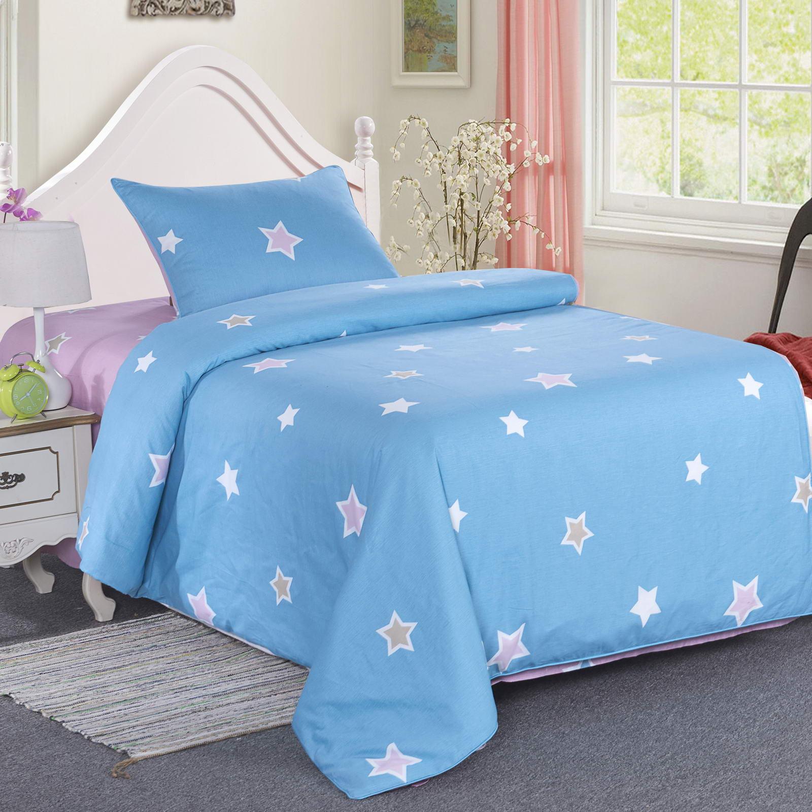 Купить Комплект детского постельного белья Звездочки, цвет голубой, Sofi dе Marko,