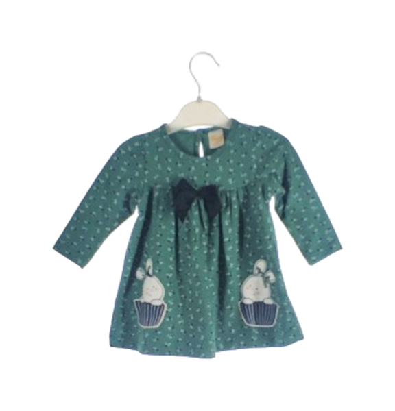 Платье для девочек DECO цв. зеленый р.86