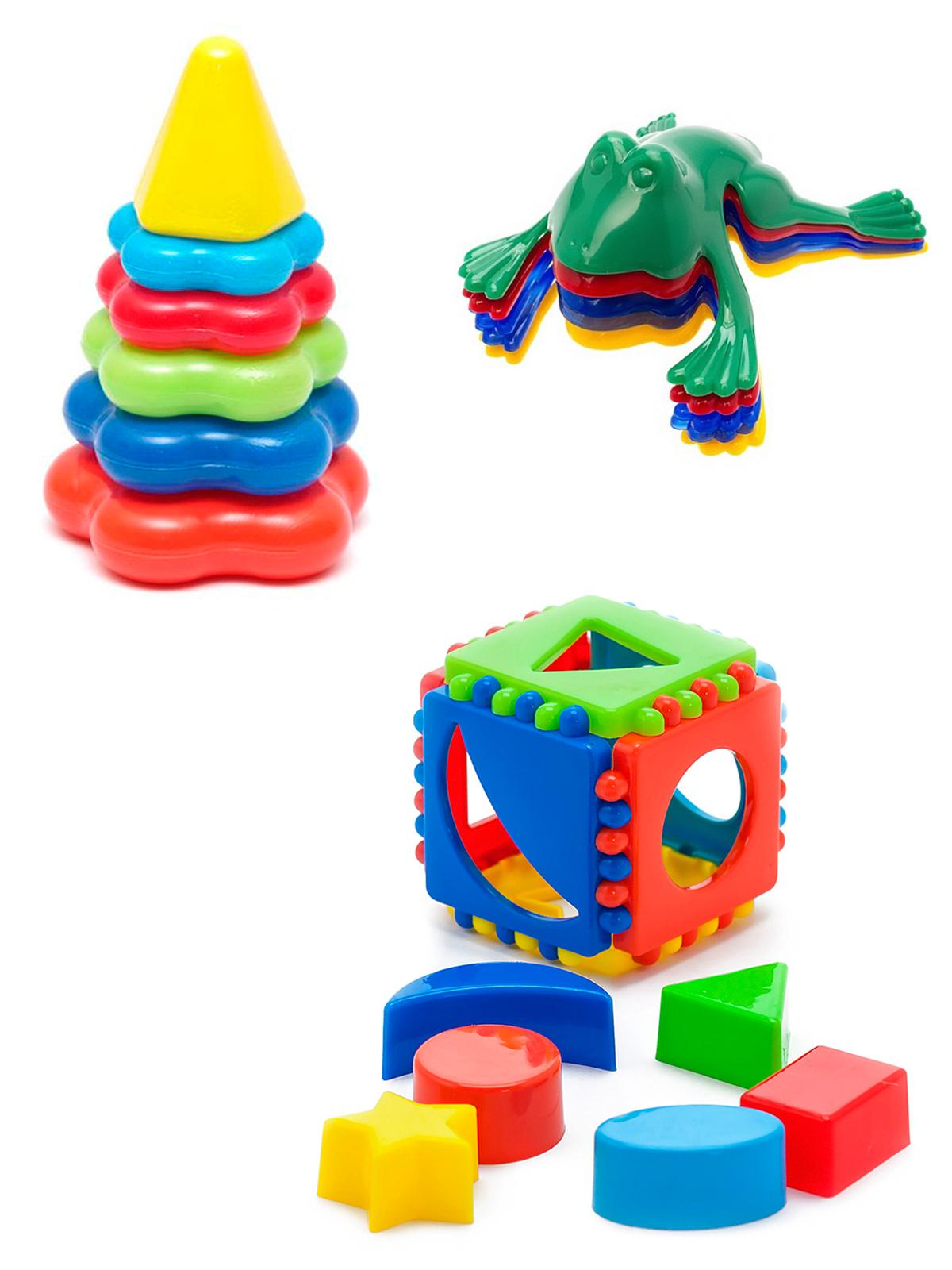 Купить Развивающие игрушки Karolina Toys Кубик логический малый+Пирамида малая Команда КВА,