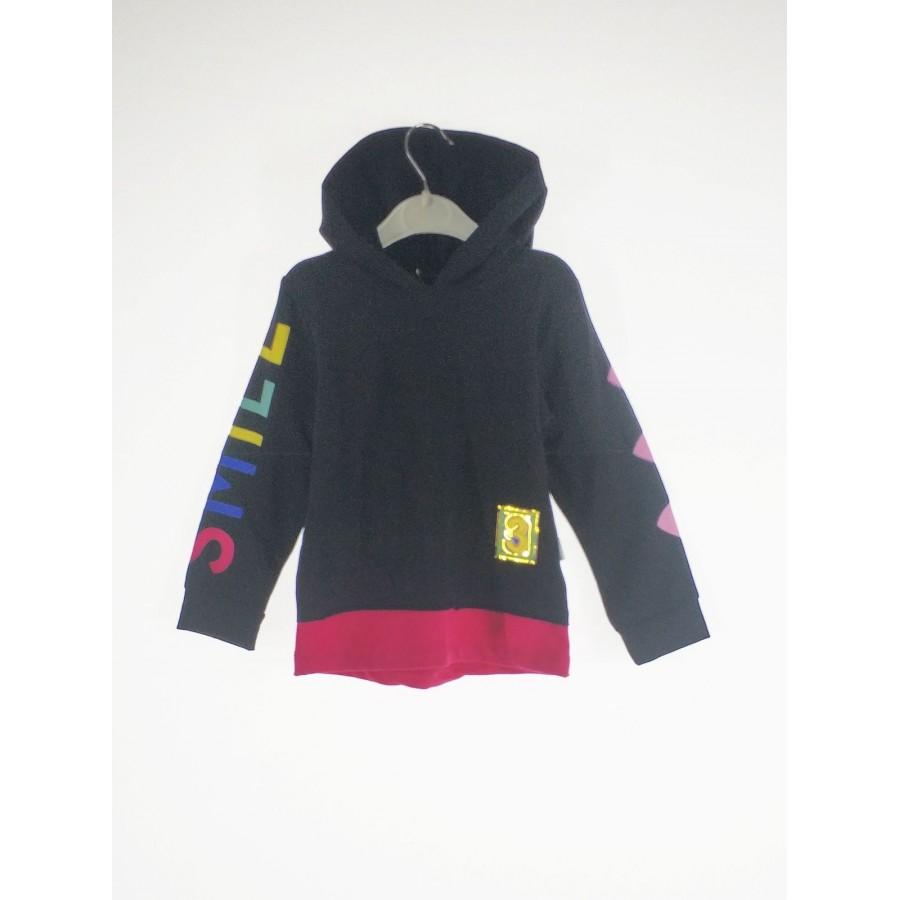 Купить 4878-01, Джемпер для девочек LORINDA цв. черный р.128,