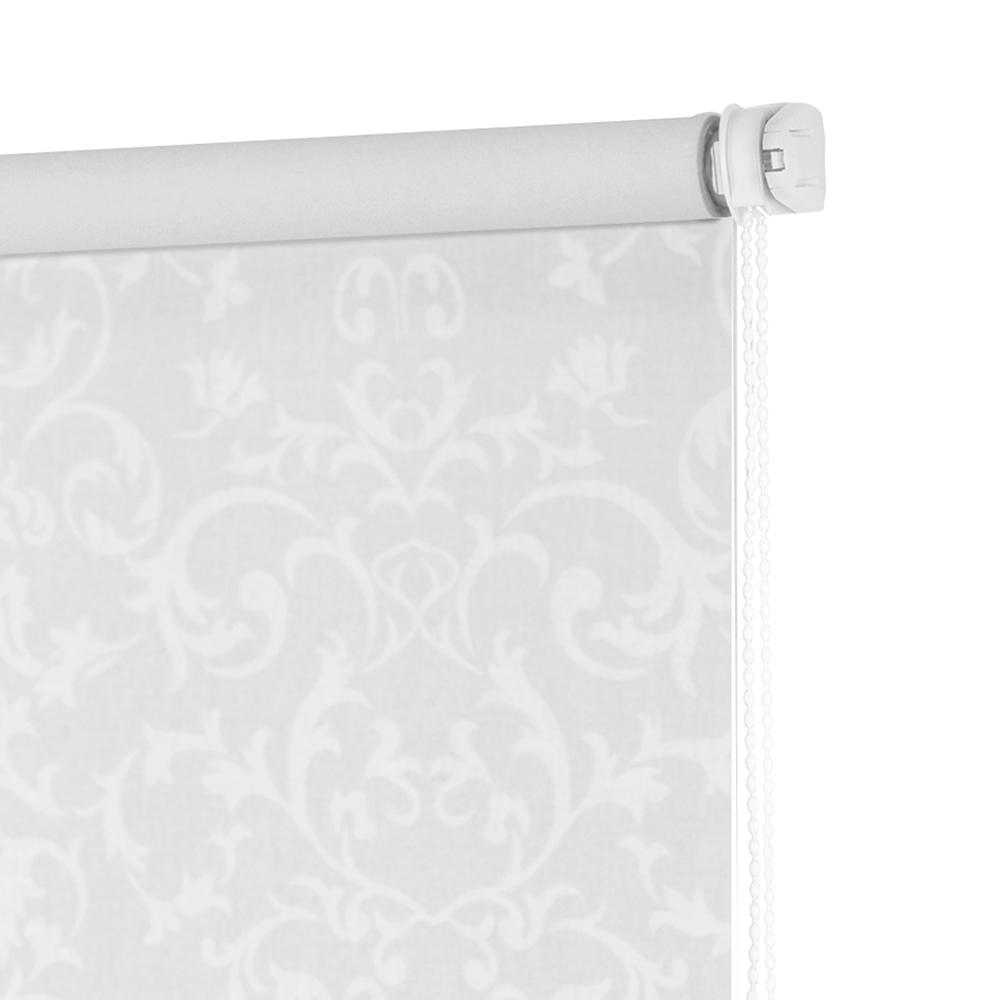 Рулонная штора Decofest Бернаут Завитки Белый 60x160