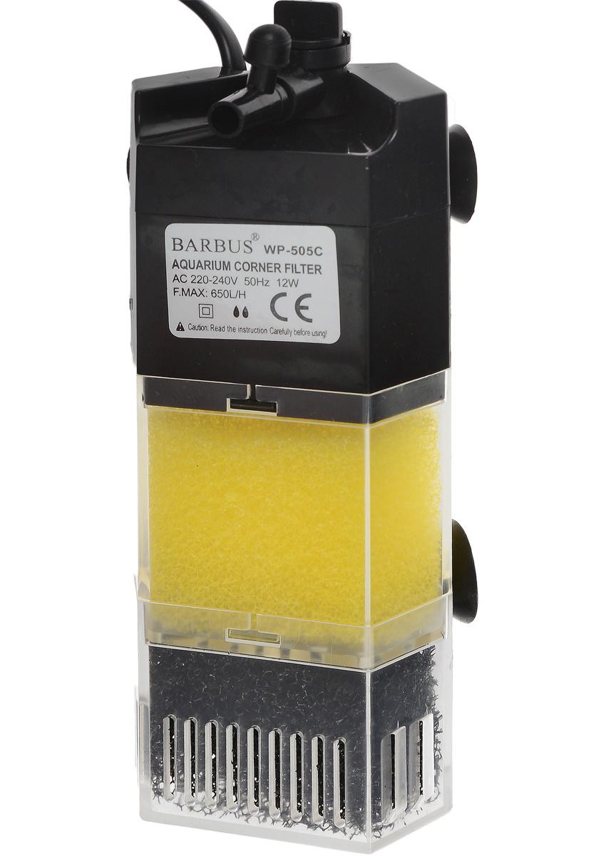 Фильтр для аквариума внутренний секционный угловой Barbus