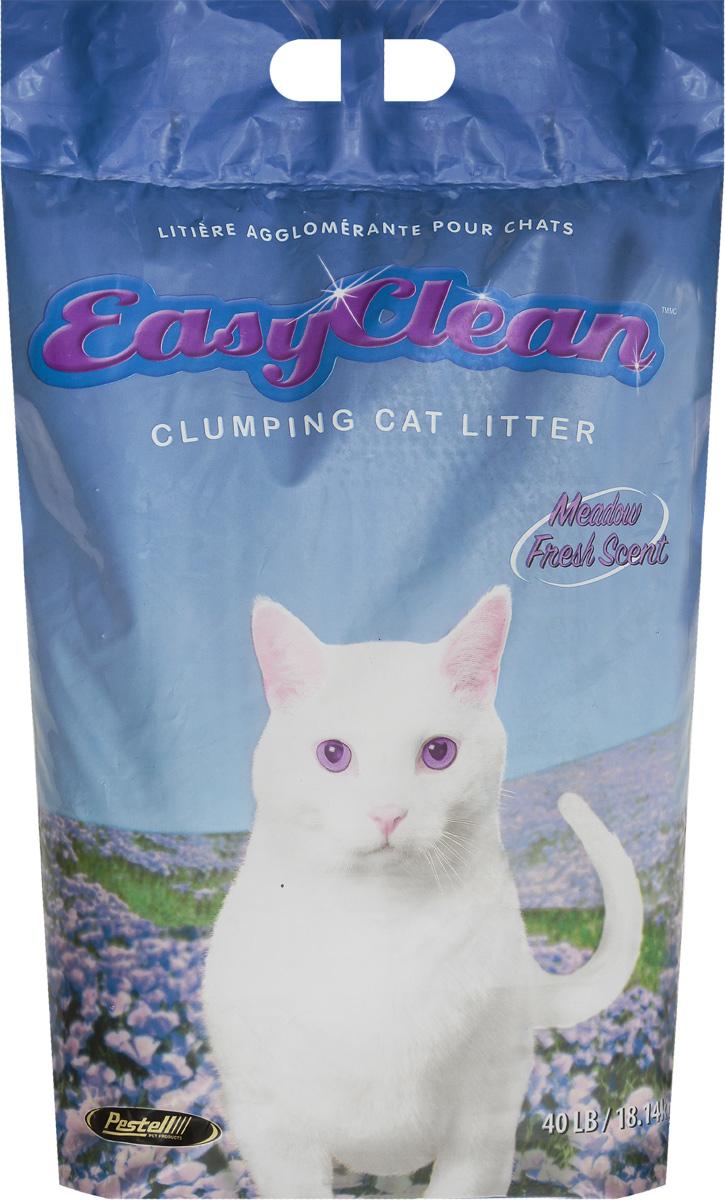 Наполнитель для кошачьего туалета Easy Clean Fresh Linen комкующийся луговые травы 18,14кг