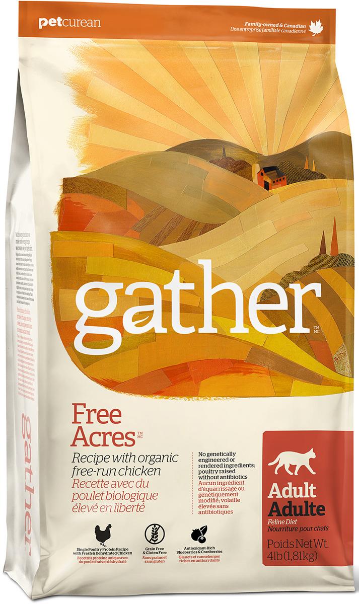 Сухой корм для кошек Gather Free Acres монобелковый с курицей 1,81кг фото