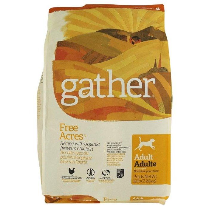 Сухой корм для собак Gather Free Acres монобелковый все породы с курицей 7,26кг фото