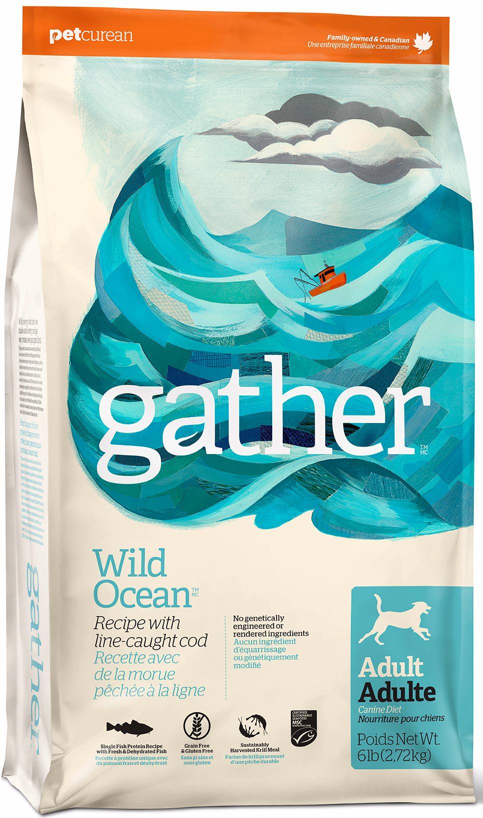 Сухой корм для собак Gather Wild Ocean монобелковый все породы с океанической рыбой 7,26кг фото