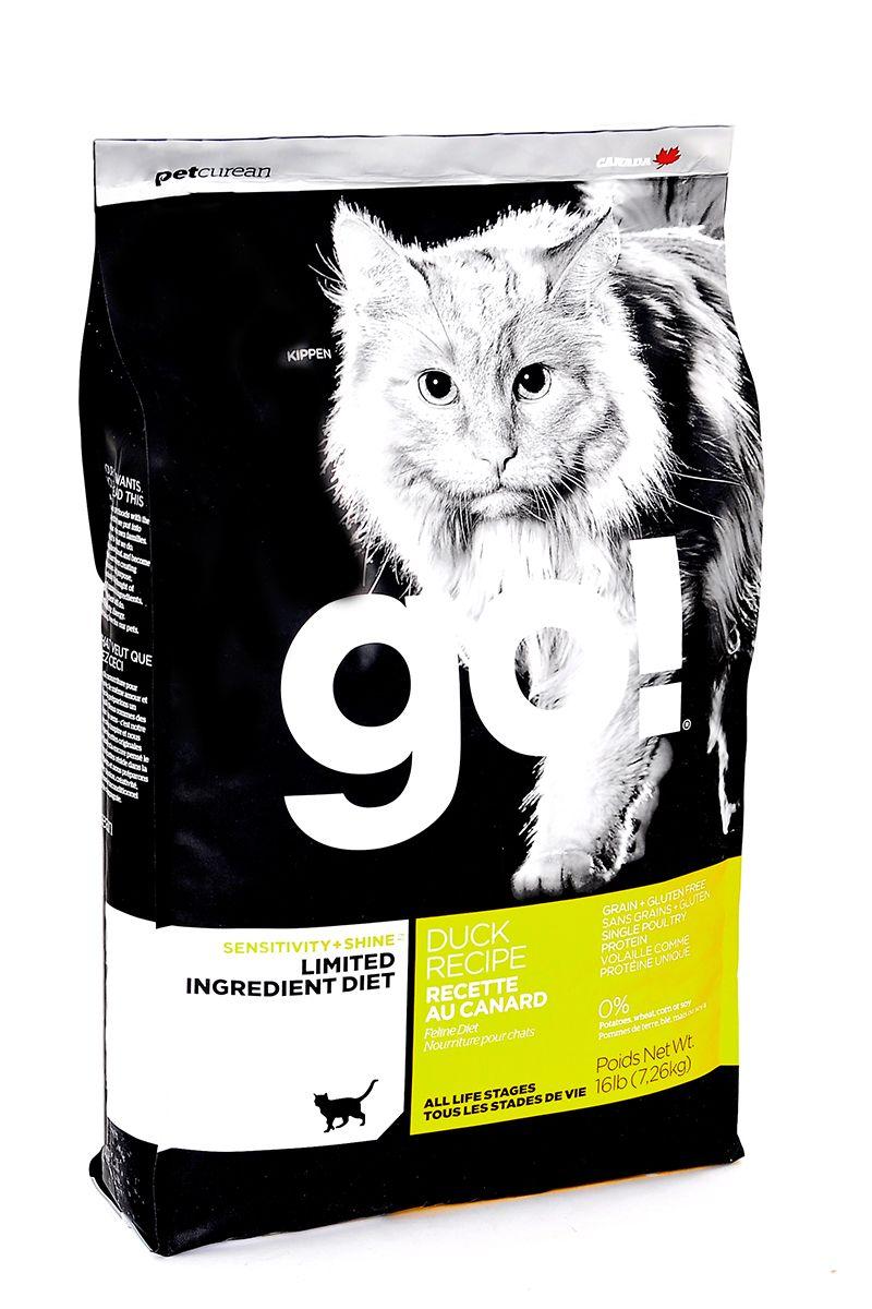 Сухой корм для кошек и котят GO! Sensitivities беззерновой с уткой 7,26кг