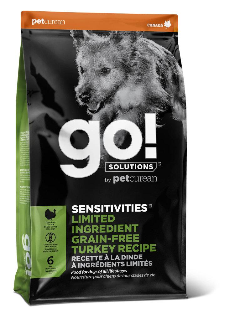 Сухой корм для собак и щенков GO! Sensitivities беззерновой все породы с индейкой 5,44 кг