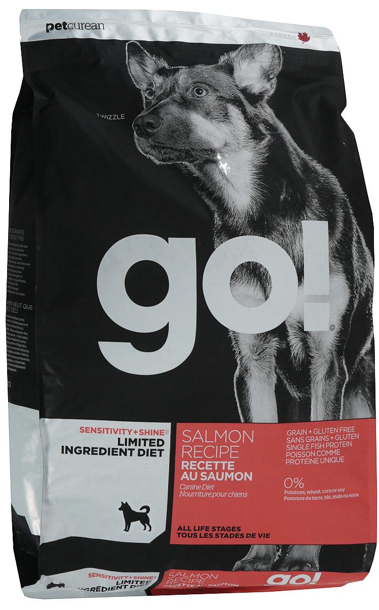 Сухой корм для собак и щенков GO! Sensitivities беззерновой все породы с лососем 5,44 кг