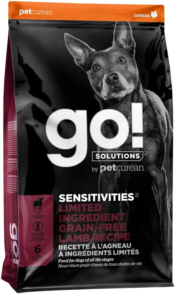 Сухой корм для собак и щенков GO! Sensitivities беззерновой все породы с ягненком 5,44 кг