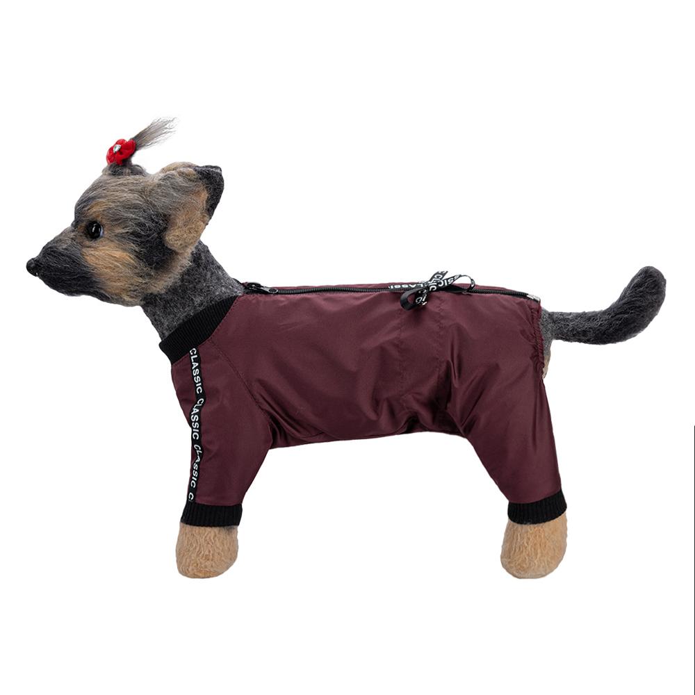 Комбинезон для собак Dogmoda Классик, женский, коричневый,