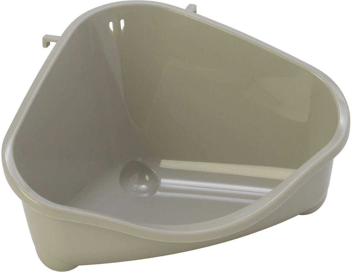 Туалет угловой для грызунов MODERNA светло серый маленький