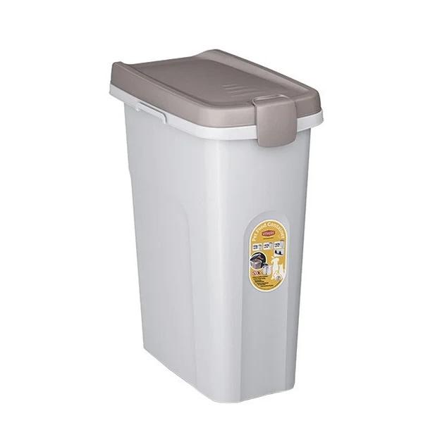 Контейнер для корма Stefanplast, белый, 10 кг/25