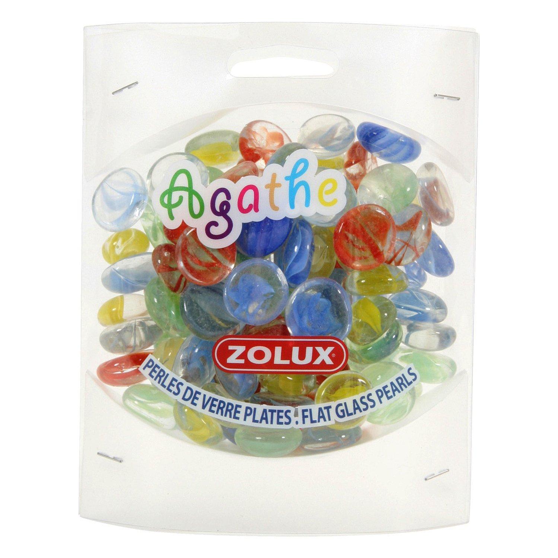 Декор для аквариума ZOLUX Агат стеклянный S мульти цвет 430г
