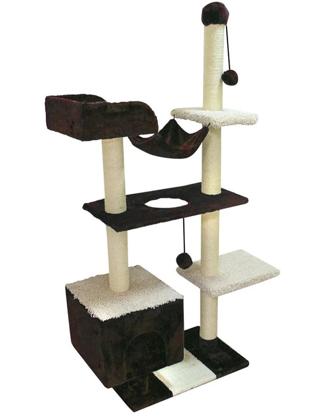 Комплекс для кошек Зооник с домом, гамаком
