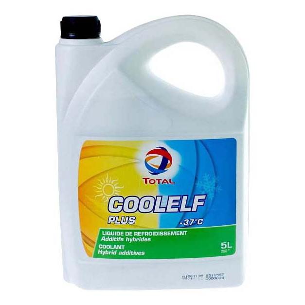 Антифриз готовый сине-зелёный TOTAL COOLELF PLUS -37 5л фото