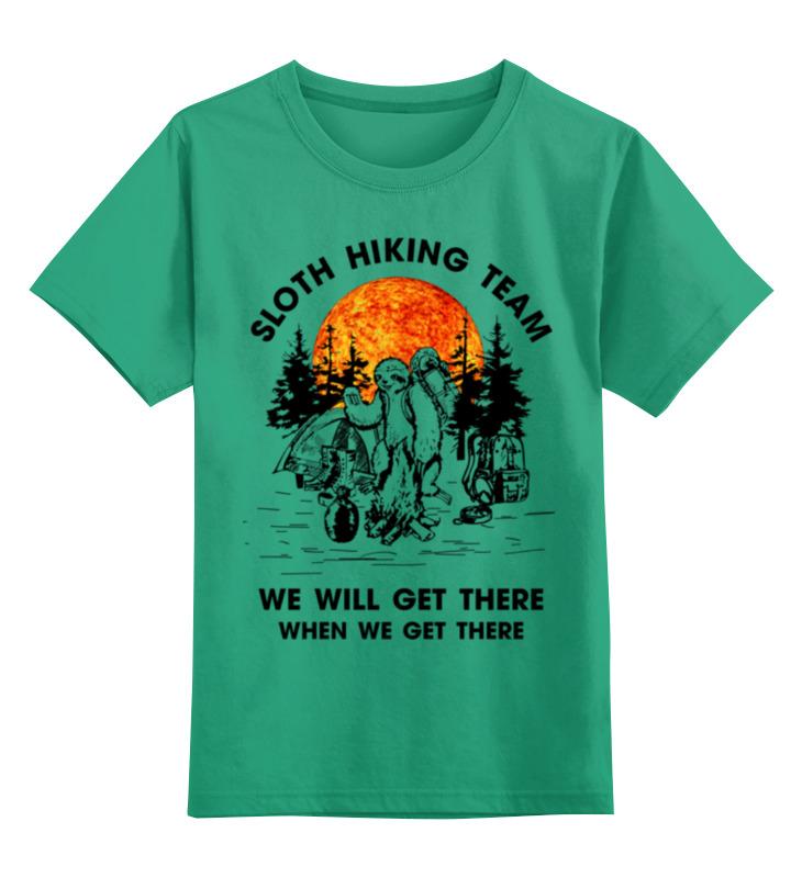 Купить 0000002899175, Детская футболка Printio Арт туризм цв.зеленый р.128,