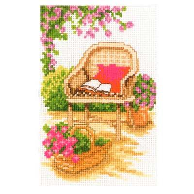 Набор для вышивания Садовое кресло 8 х 12см арт. PN-0003721 Vervaco