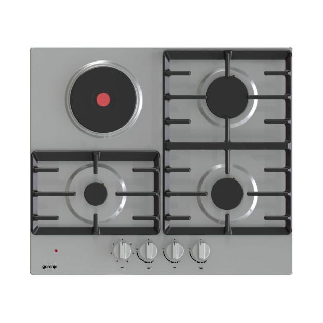 Встраиваемая комбинированная панель Gorenje GE681X Silver