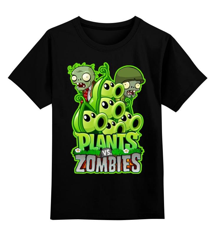 Детская футболка Printio Plants vs zombies цв.черный р.128 0000002952163 по цене 990