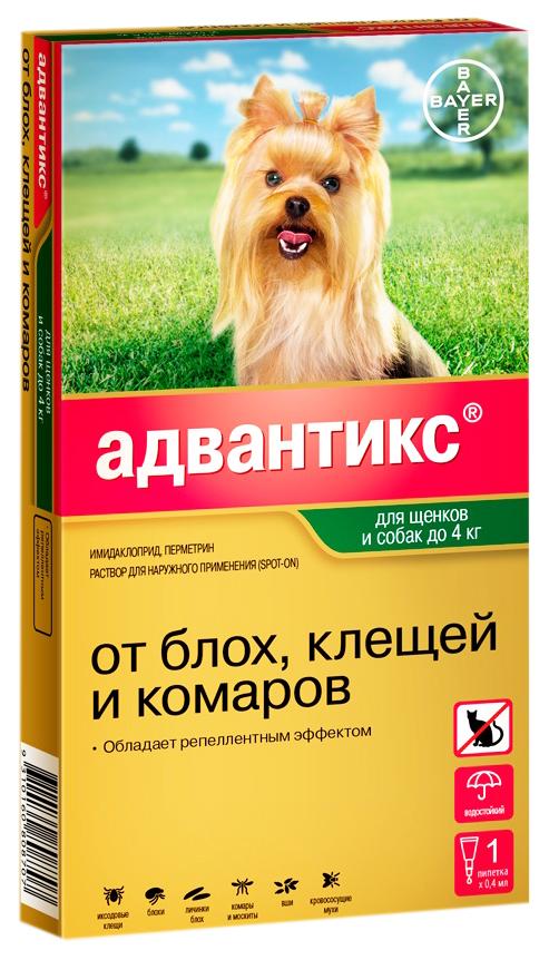 Капли для собак против паразитов Bayer Адвантикс