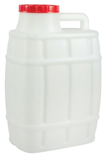 Канистра Альтернатива, Бочонок, белый, 20 л