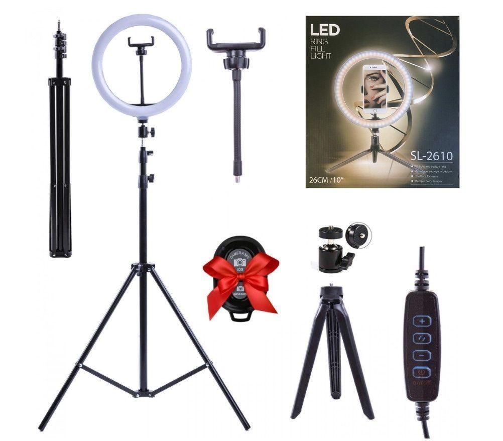 Кольцевая лампа Samion SL2610, 26 см, Black
