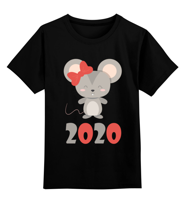 Детская футболка Printio Мышка цв.черный р.128 0000002880882 по цене 990