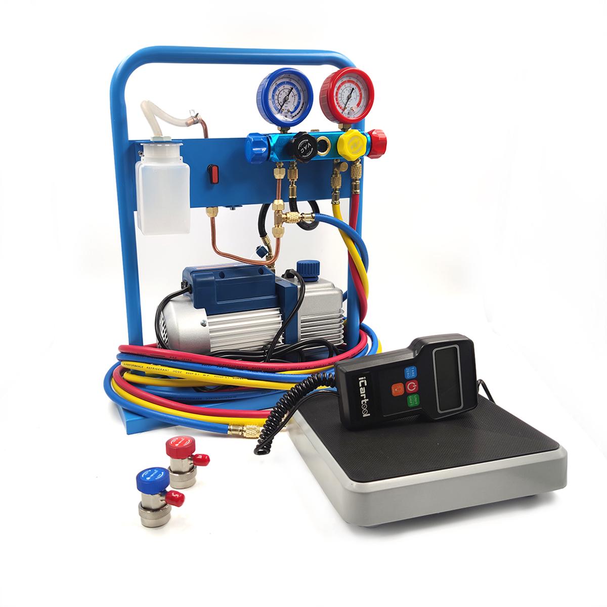 Комплект для заправки кондиционеров, compact с функцией