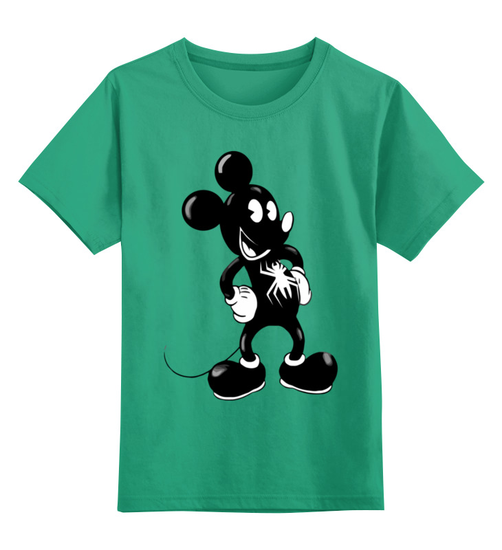 Купить 0000002985906, Детская футболка Printio Мышонок цв.зеленый р.128,
