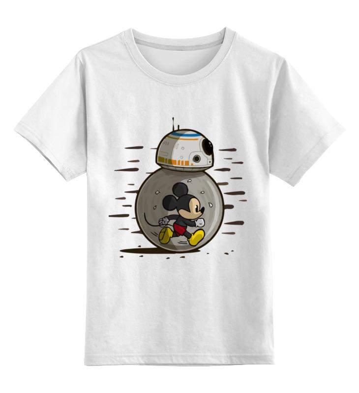 Купить 0000003002964, Детская футболка Printio Мышонок цв.белый р.128,