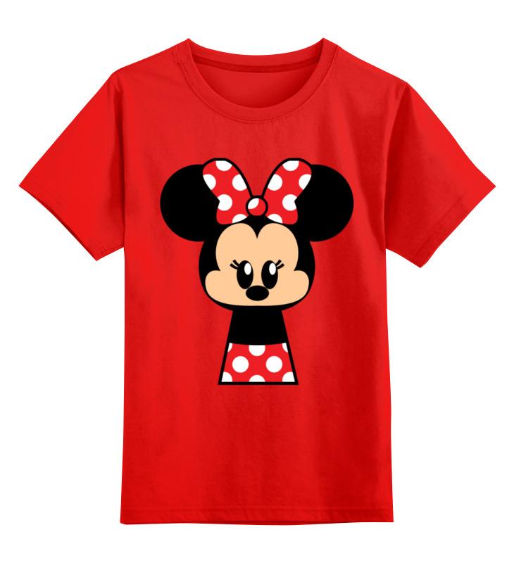 Купить 0000003002986, Детская футболка Printio Мышонок цв.красный р.128,