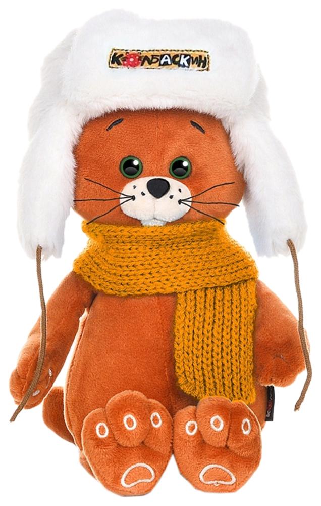 Купить Мягкая игрушка Колбаскин в шапке и оранжевом шарфе 20 см MT-MRT051907-20 Колбаскин&Мышель,