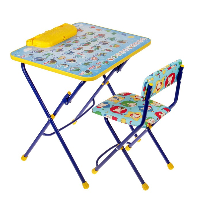 Купить Набор детской складной мебели Nika Азбука стол-парта с пеналом и мягкий стул,