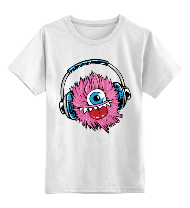 Детская футболка Printio Монстрик цв.белый р.116 0000002928864 по цене 790
