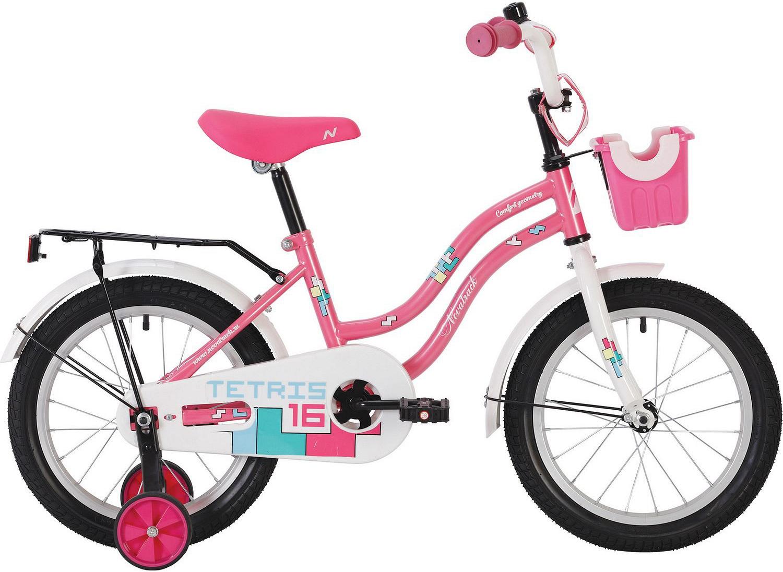 Велосипед Novatrack Tetris розовый 12\